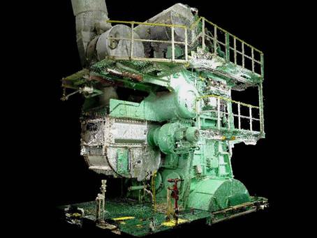 Engine Room Laser Scanning for BWTS retrofit Large Oil Tanker 50321 t - Point Cloud