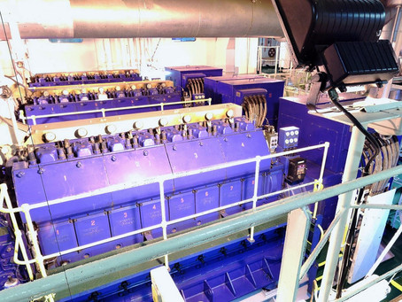 3D Laser Scanning Engine Room for BWTS Retrofit - Container ship 18860 t