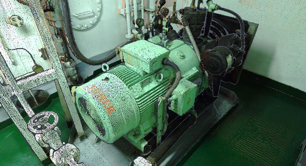 Escaneado laser elementos industriales - Bombas, Motores