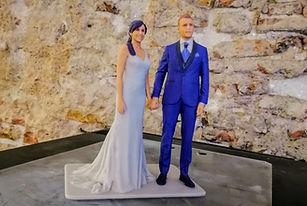 Figuras de novios reales 3D, Figuras novios para tartas, Impresión 3D, figuras 3D, Escaneo, Escaner 3D, Reproducción 3D, Barcelona, España