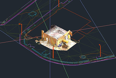 Point cloud, Autocad, georeferencing, Laser scanning, Spain, BIM
