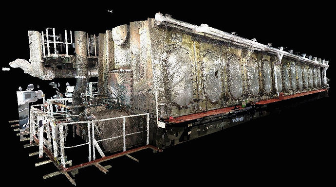 3D Laser scanning Naval. Engine Room, BWTS pumps and pipes, Fire Pumps, Bilge pumps, ejector, eductor, Steering Room, Spain