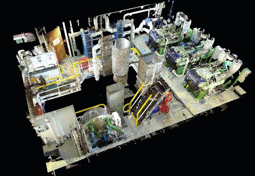 Marine 3D laser scanning Engine Room - Tanker vessel - Spain, Germany, Portugal, Malta, Turkey, Gibraltar, Europe