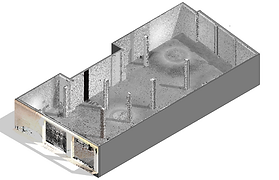 Point Cloud integrated into construction modeling tool - Autodesk Revit, 3D Building Scan, laser scanner, BIM, Revit, Archicad, Architecture, Engineering, Madrid, Barcelona, Spain
