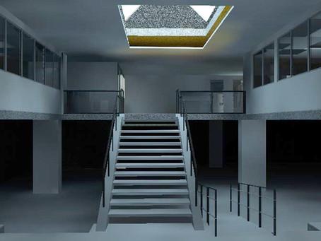 Escaneo láser 3D de edificio de oficinas para trabajos de remodelación. Barcelona - España