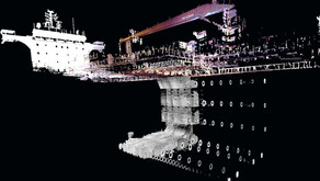 Laser scanning inside ballast tanks and other enclosed environments