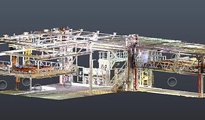 Laser scanning of industrial facilities - Point Cloud - BIM (Building Information Modeling)
