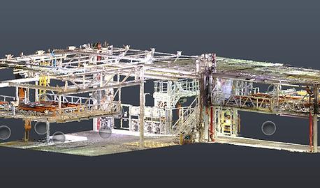 Escaneo láser - nube de puntos 3D de instalaciones industriales, Escaneo 3D Industria, tuberías, bombas, calderas. España, Algeciras, Barcelona, Valencia, Vigo, Santander, Tánger, Ingeniería Industrial