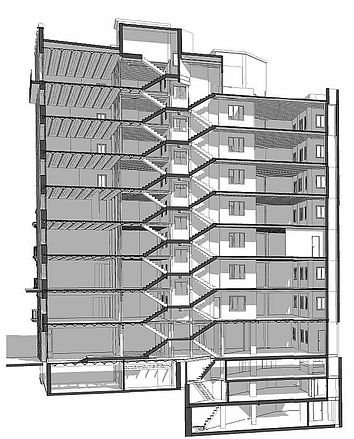Modelo definitivo en ArchiCAD, Scan to Archicad, Scan to BIM (Building information modeling)