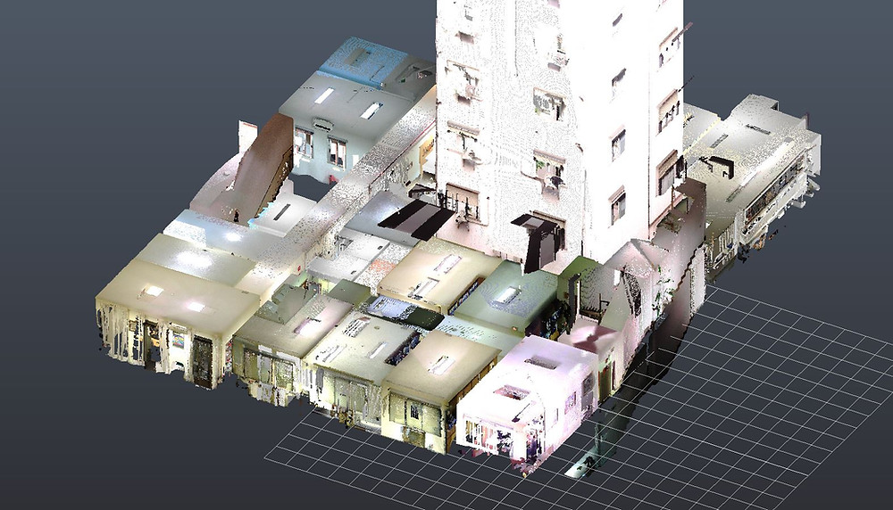 Nube de puntos obtenida mediante escaner láser 3D
