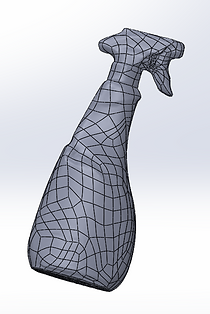 Modelo de malla parametrizado. Ingeniería inversa a partir del escaneado del objeto (Laser scanning)