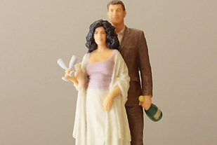 3D weddings figures, weddings figures for cakes, 3D printing, 3D scanning, 3D Arrangements weddings