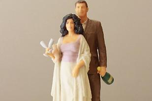 Novios en 3D para tartas de boda, figuras de novios reales