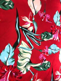 Flores Fondo Rojo