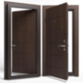 Дверь APECSв МДФ/МДФ 860 Л орех СтандN (8247)