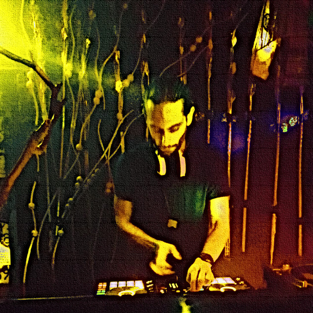 DJing at Club Werk in Vienna at Cura Magica Event