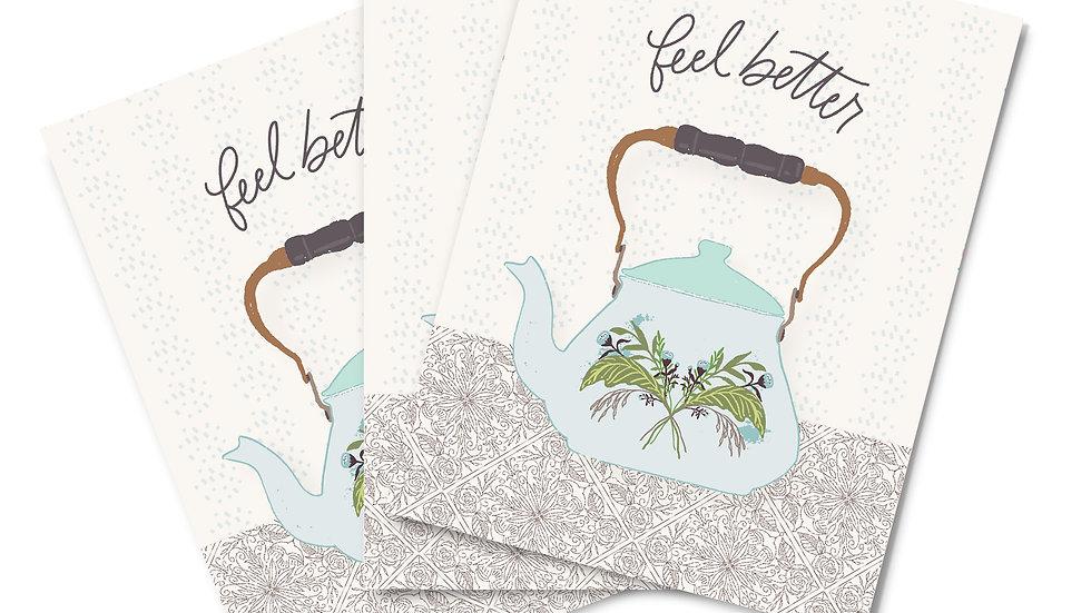 Note Card Set - Feel Better Kettle