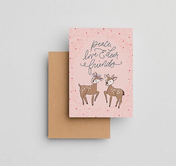 Deer Friends - Note Card