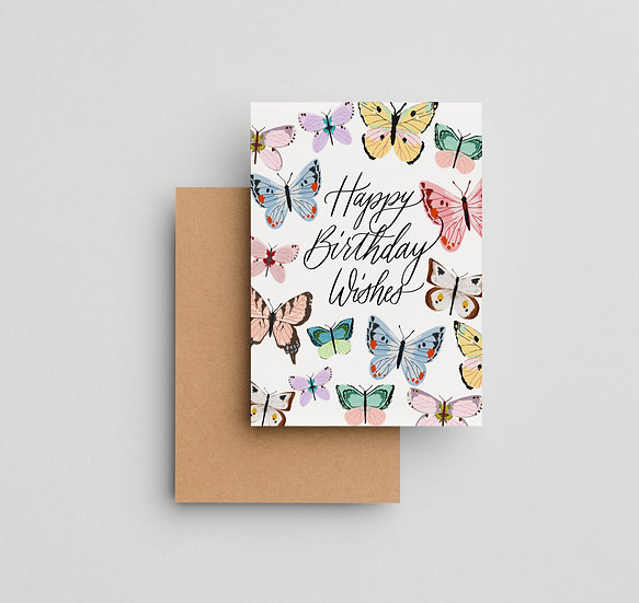 Butterfly Birthday - Note Card