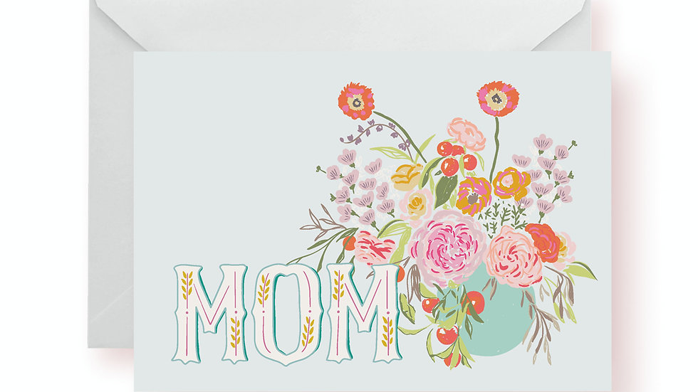 Mother's Day Card - MOM Flower Bouquet
