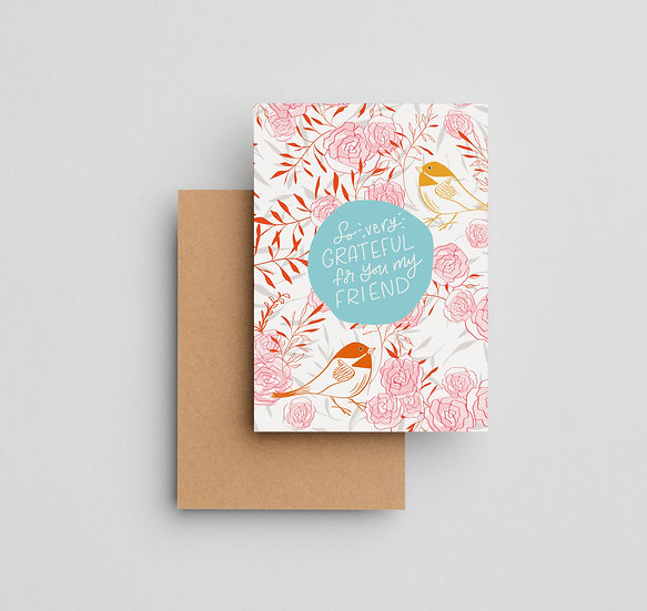 Grateful For You - Note Card