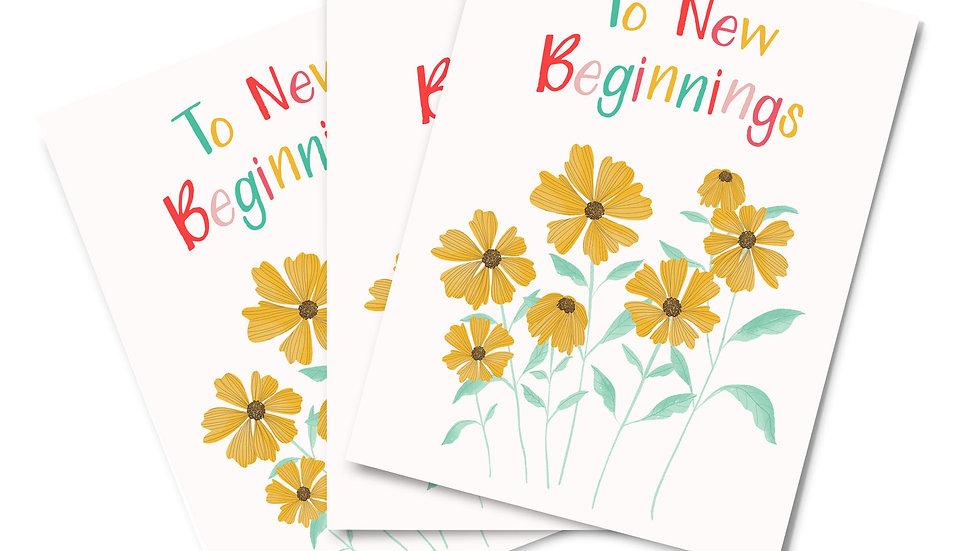 Note Card Set -New Beginnings