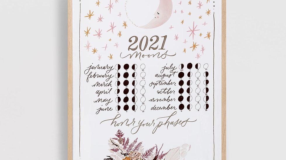 2021 Lunar Calendar Art Print