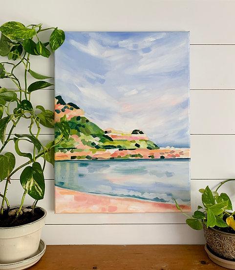 "Chimney Corner Beach - 18x24"" Acrylic Painting on Canvas"