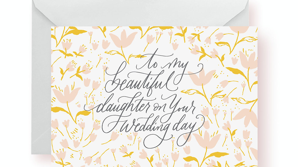 Wedding Card - To My Daughter