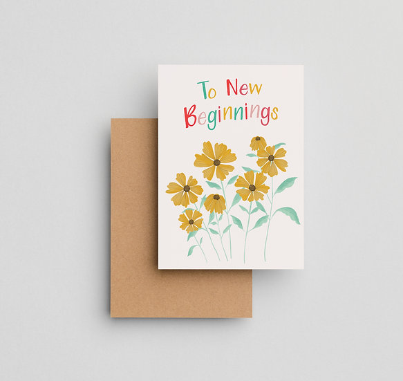 To New Beginnings - Note Card