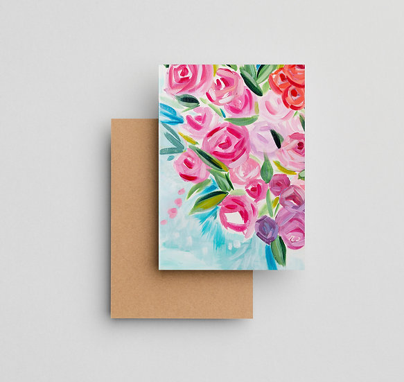 Coming Home Floral - Note Card