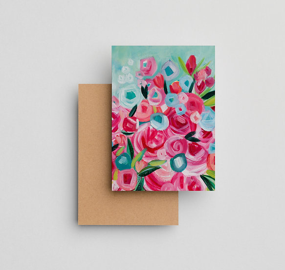 Free to Be Floral - Note Card