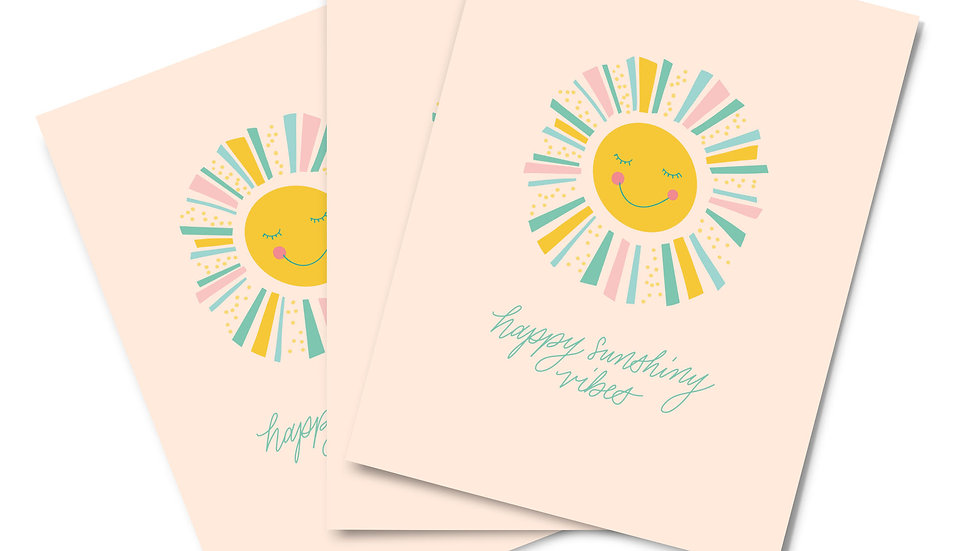 Note Card Set - Happy Vibes