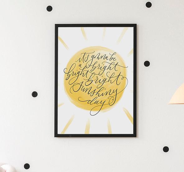 Sunshiny Day- Art Print - Canvas Print