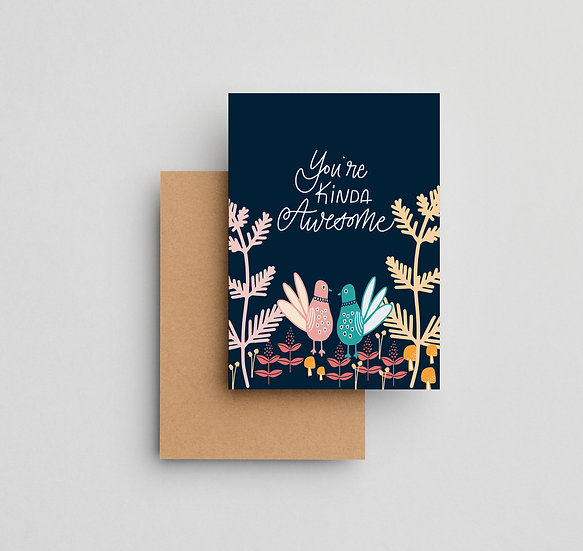 You're Kinda Awesome - Note Card