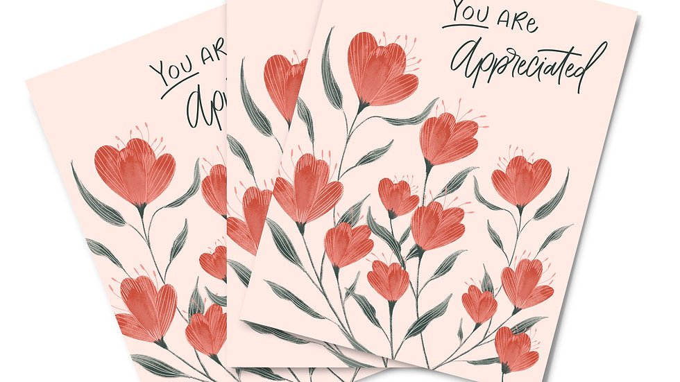 Note Card Set -You Are Appreciated