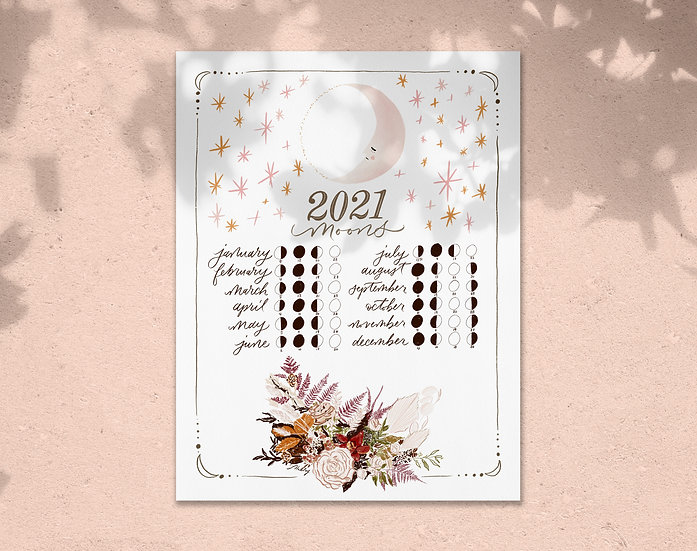 2021 Lunar Calendar Digital Download
