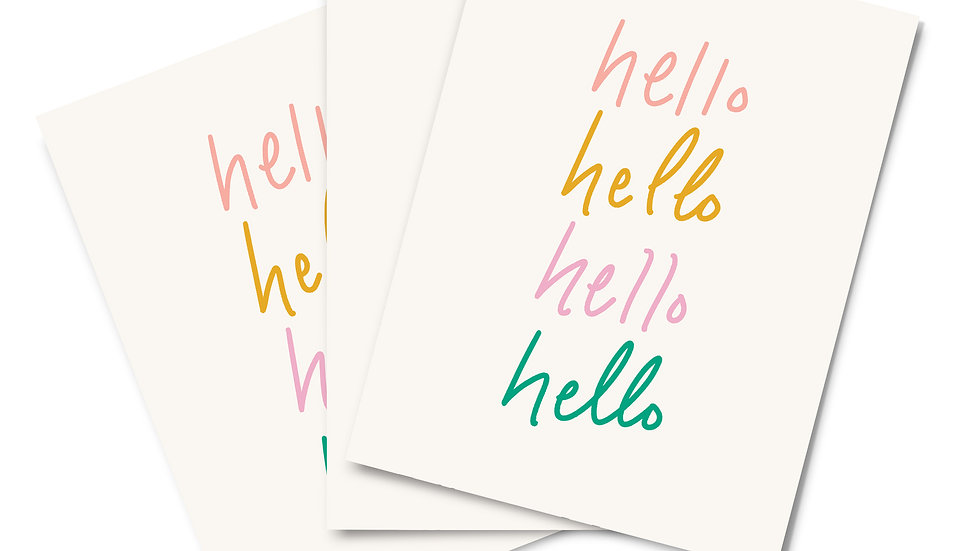 Note Card Set - Hello, Hello