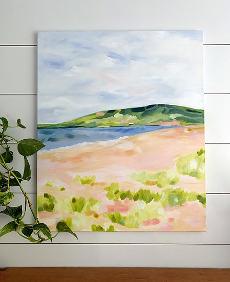 "West Mabou Beach - 20x24"" Acrylic Painting on Canvas"