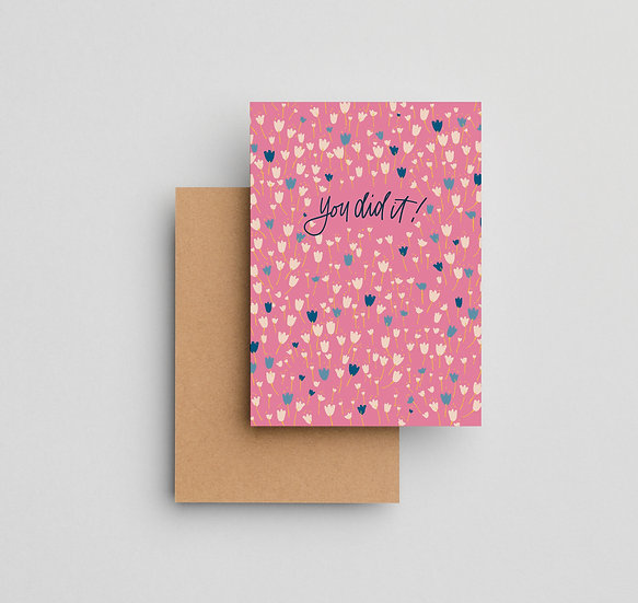 You Did It - Note Card
