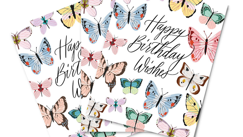 Note Card Set - Birthday Wishes