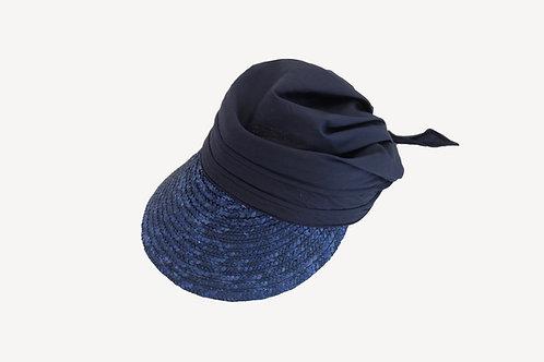 Strohcap mit Stoff