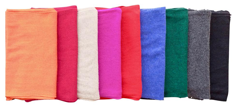 bunte Schals aus Merino-Cashmere Wolle