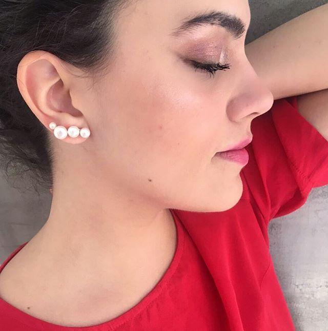 earcuff pérolas