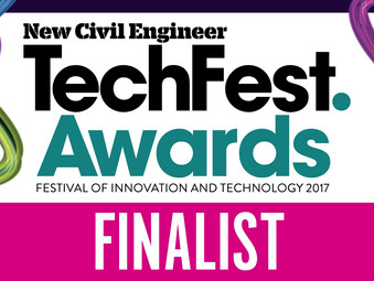 We've been shortlisted for the New Civil Engineer TechFest Awards