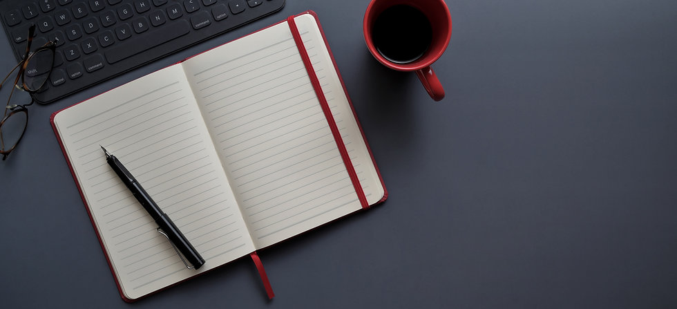 Canva - Notebook and Pen Beside Red Mug