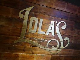 Lolas Speakeasy Hippodrome Identity Design