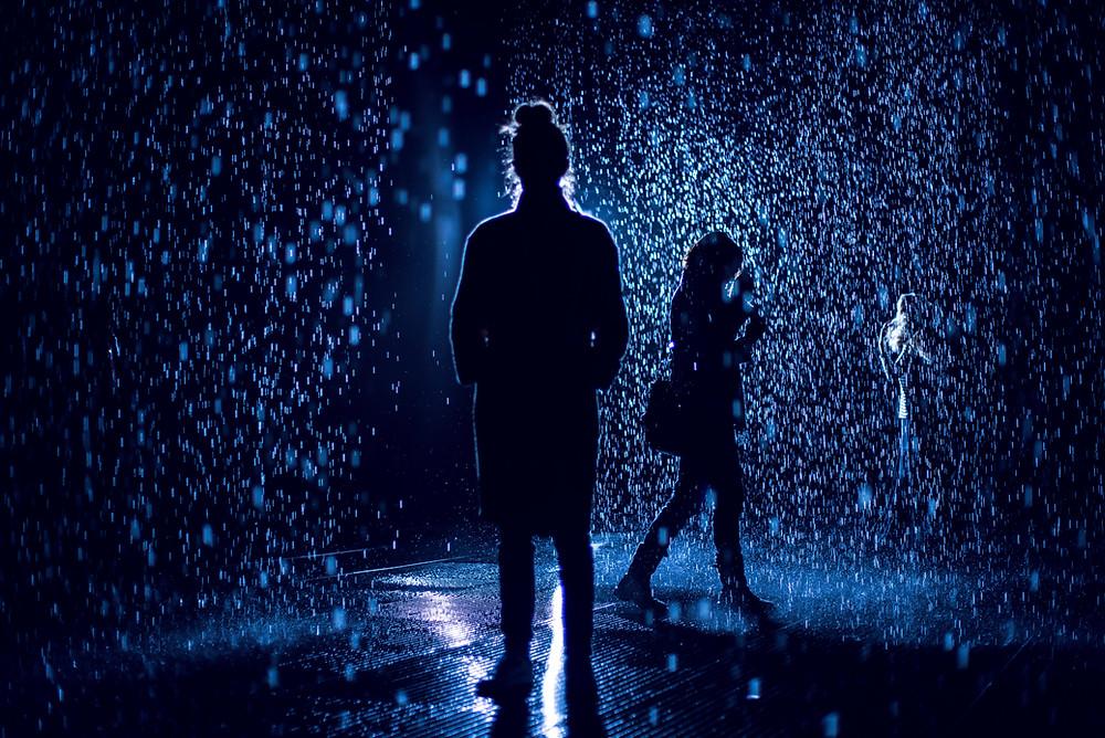 rain room, LACMA, storm, editorial, magical, art, art installation