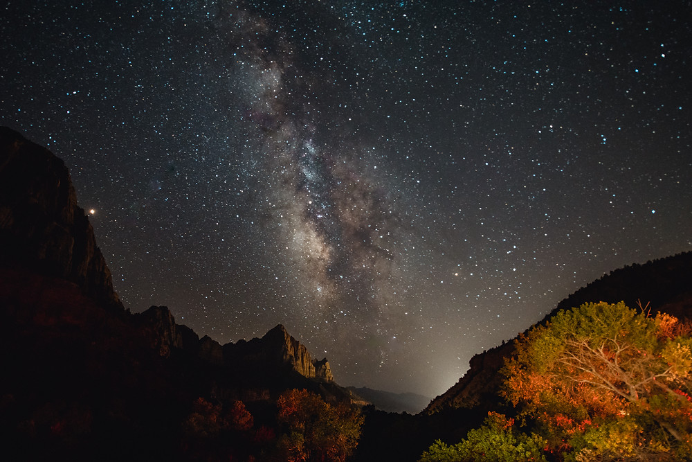 Zion, Stars, Long Exposure, Rocks, National Park Service, Milky Way, Night-shooting, Nature Photographer, Landscape
