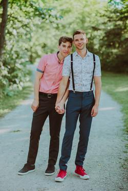 Jordan Gavaris and Devon Graye Wed